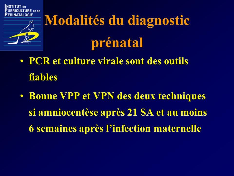 Modalités du diagnostic prénatal