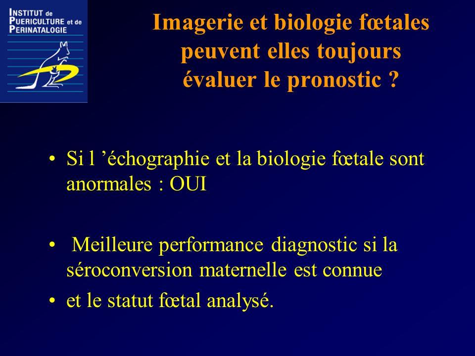 Imagerie et biologie fœtales peuvent elles toujours évaluer le pronostic