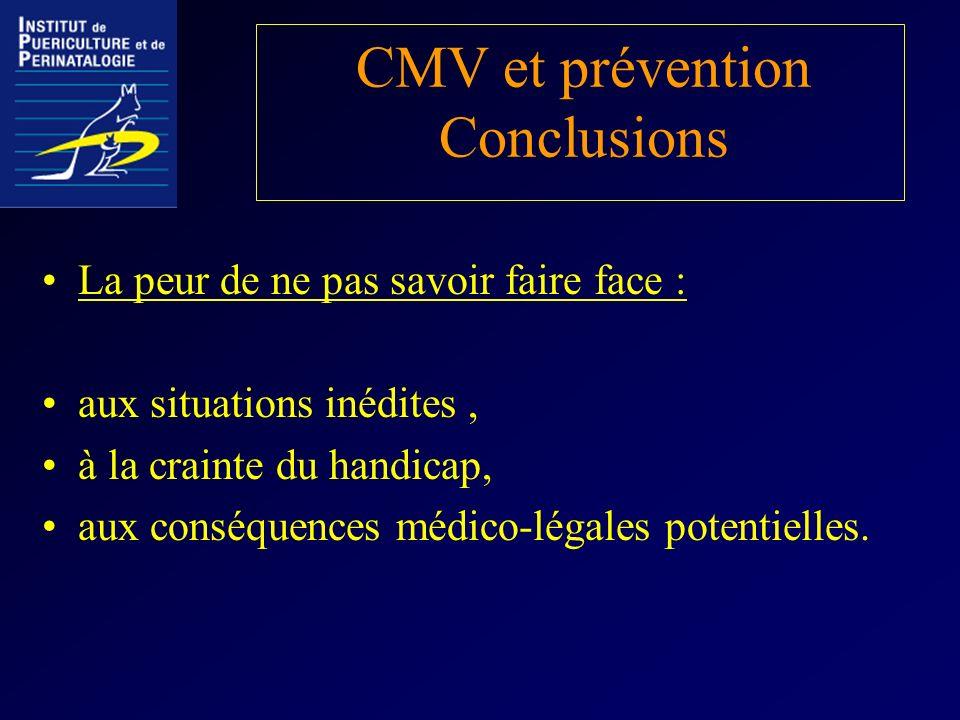 CMV et prévention Conclusions