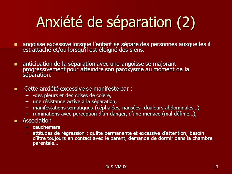 Anxiété de séparation (2)