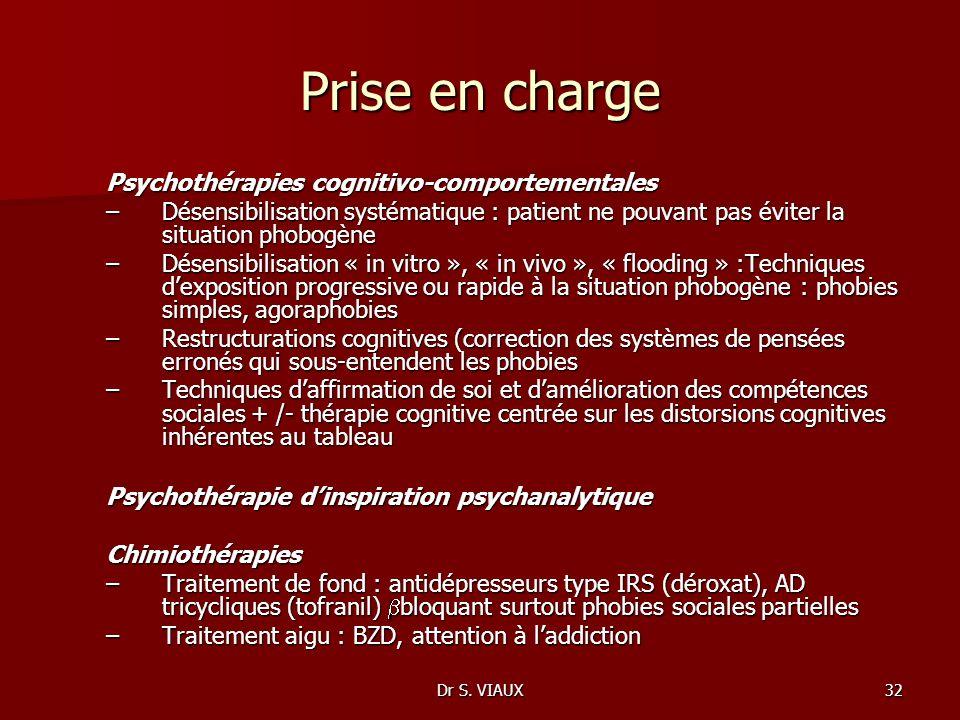 Prise en charge Psychothérapies cognitivo-comportementales