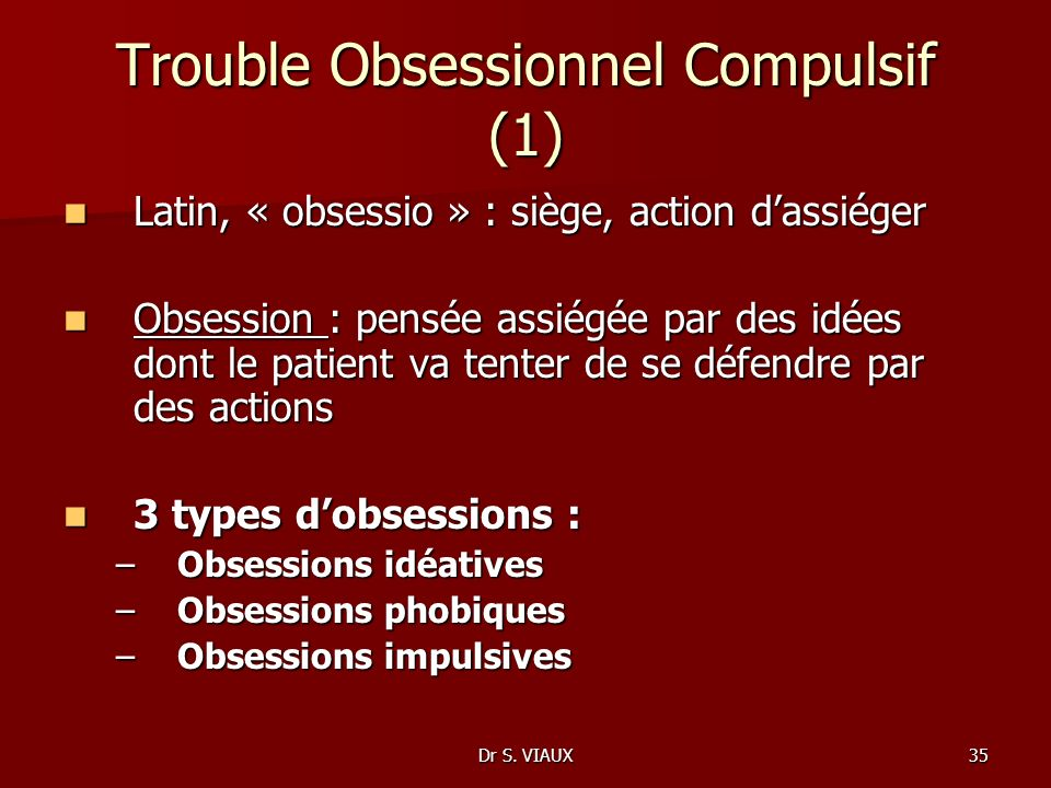 Trouble Obsessionnel Compulsif (1)