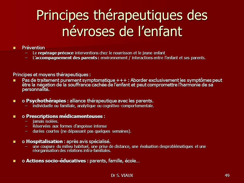 Principes thérapeutiques des névroses de l'enfant