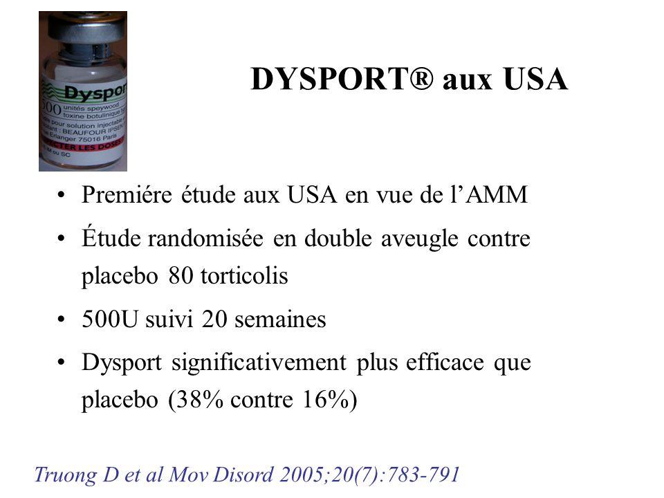 DYSPORT® aux USA Premiére étude aux USA en vue de l'AMM