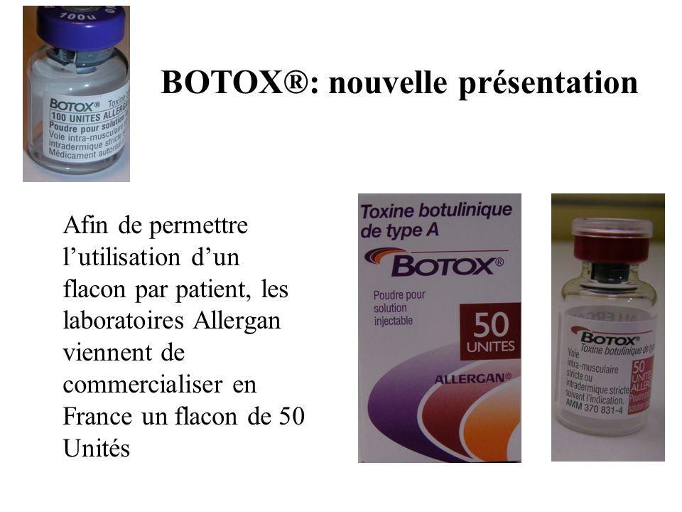 BOTOX®: nouvelle présentation
