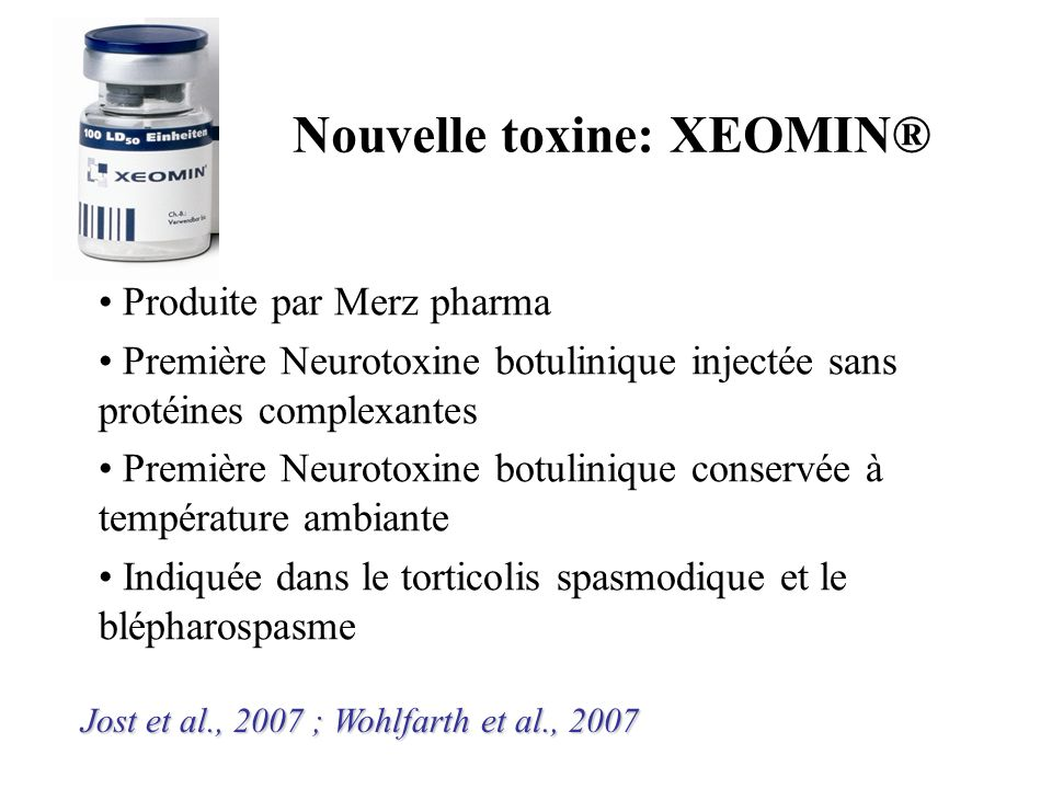 Nouvelle toxine: XEOMIN®