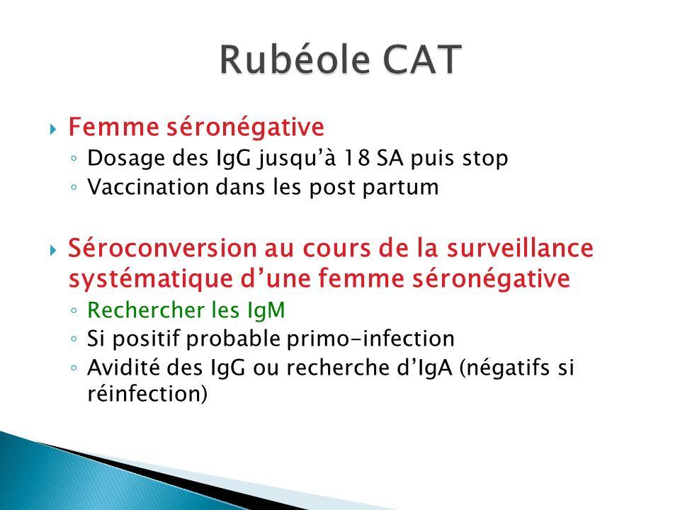 Rubéole CAT Femme séronégative