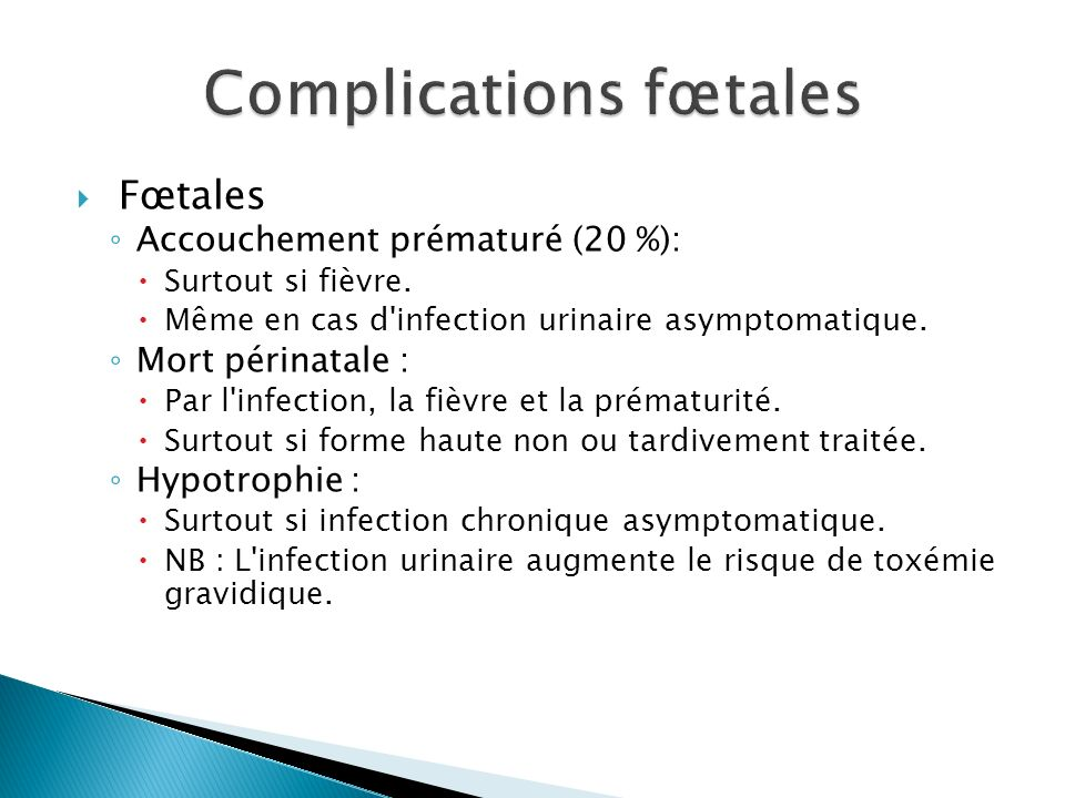 Complications fœtales