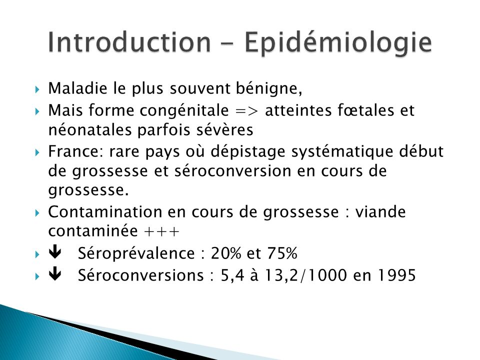 Introduction - Epidémiologie