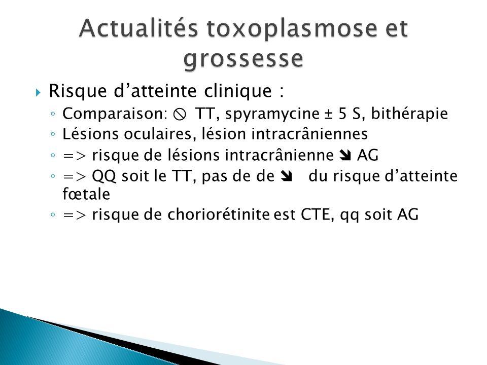 Actualités toxoplasmose et grossesse
