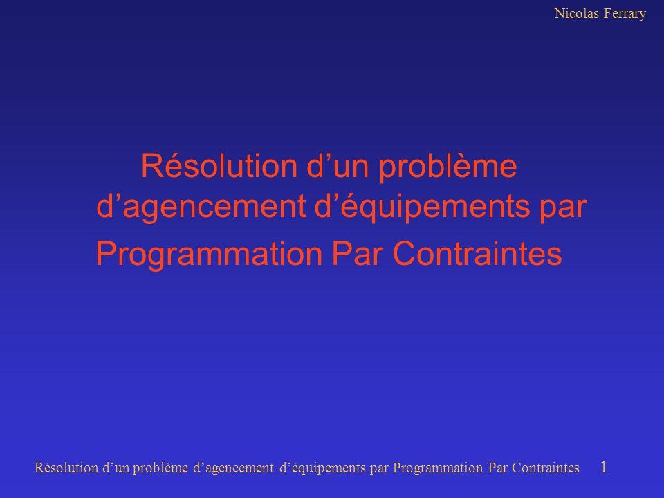 Résolution d'un problème d'agencement d'équipements par
