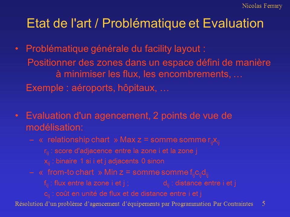 Etat de l art / Problématique et Evaluation