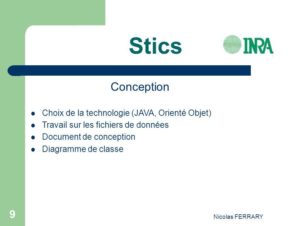 Stics Conception Choix de la technologie (JAVA, Orienté Objet)
