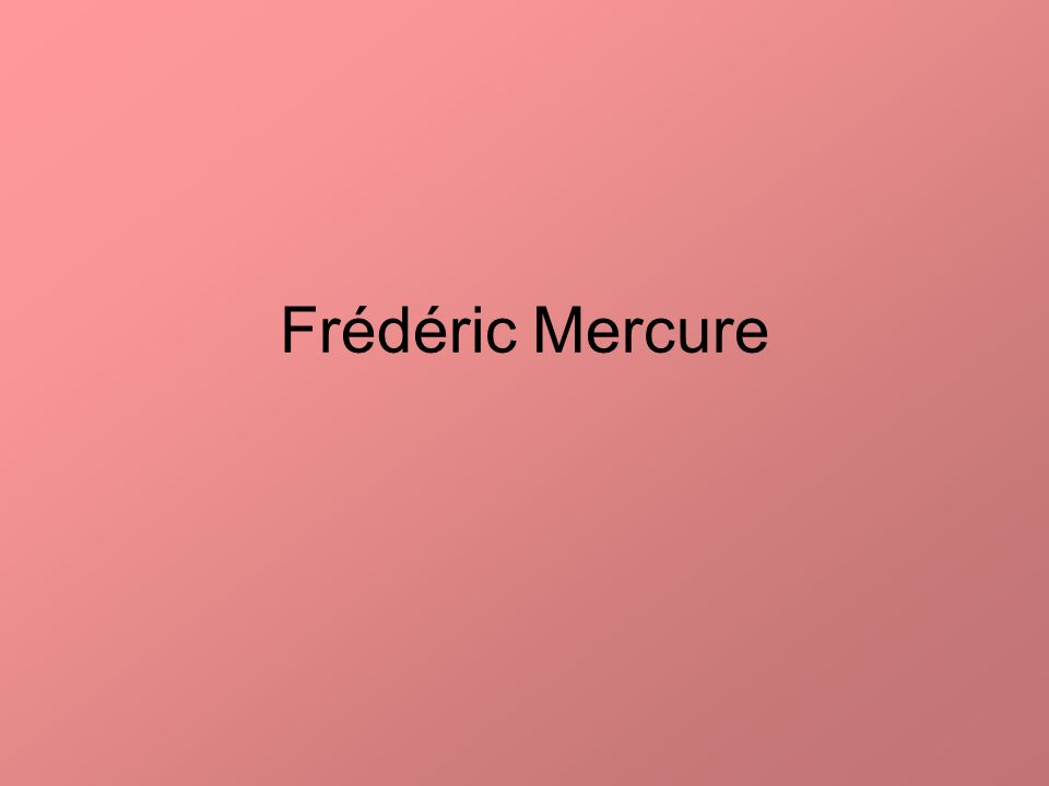 Frédéric Mercure