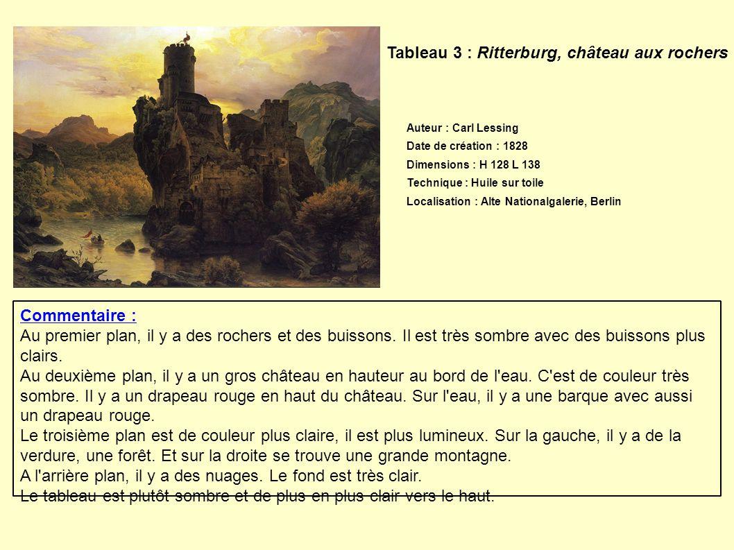 Tableau 3 : Ritterburg, château aux rochers