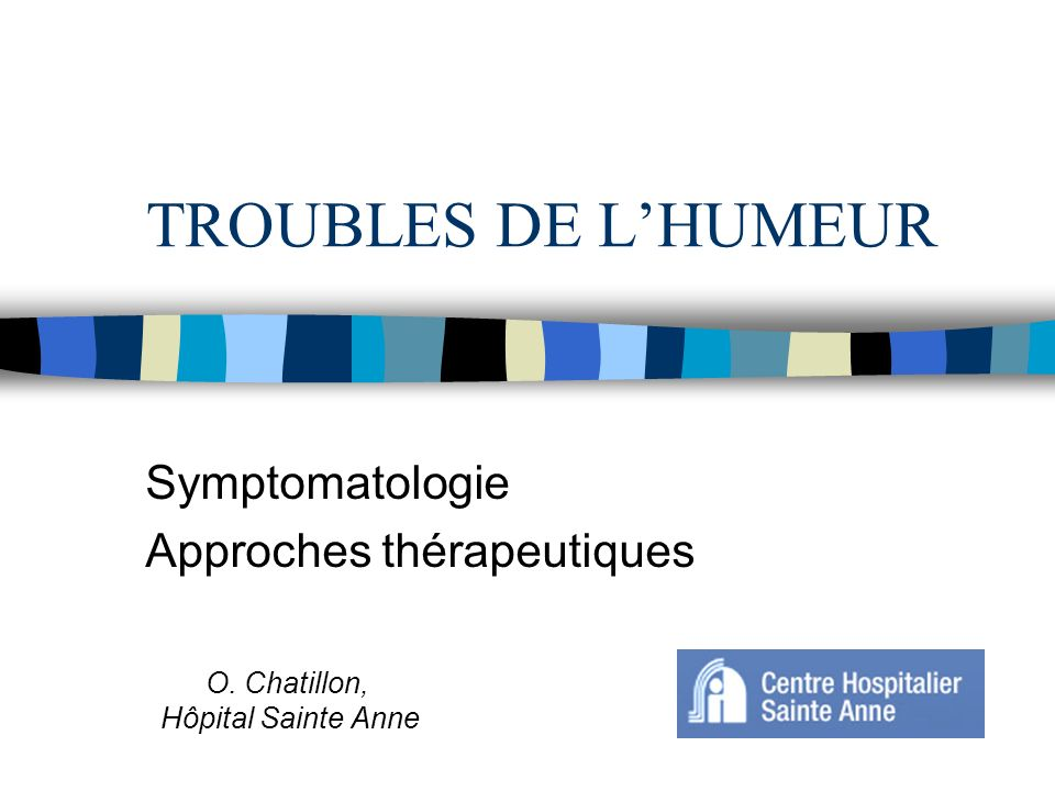 Symptomatologie Approches thérapeutiques