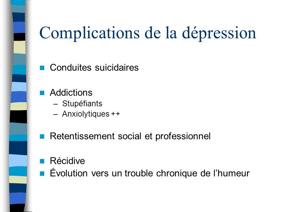 Complications de la dépression