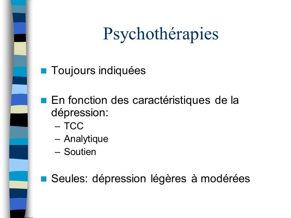 Psychothérapies Toujours indiquées