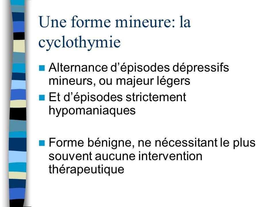 Une forme mineure: la cyclothymie