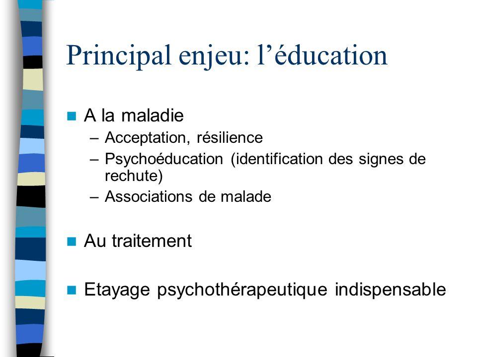 Principal enjeu: l'éducation