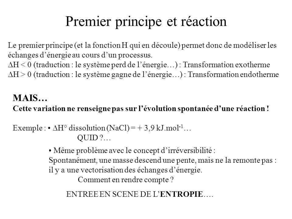 Premier principe et réaction