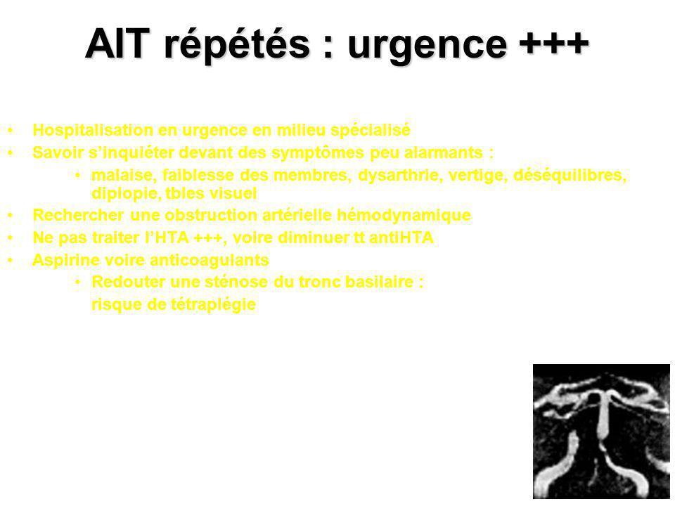 AIT répétés : urgence +++