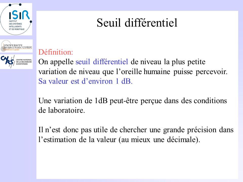 Seuil différentiel Définition: