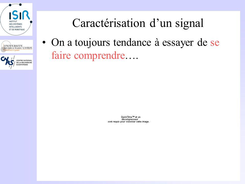 Caractérisation d'un signal