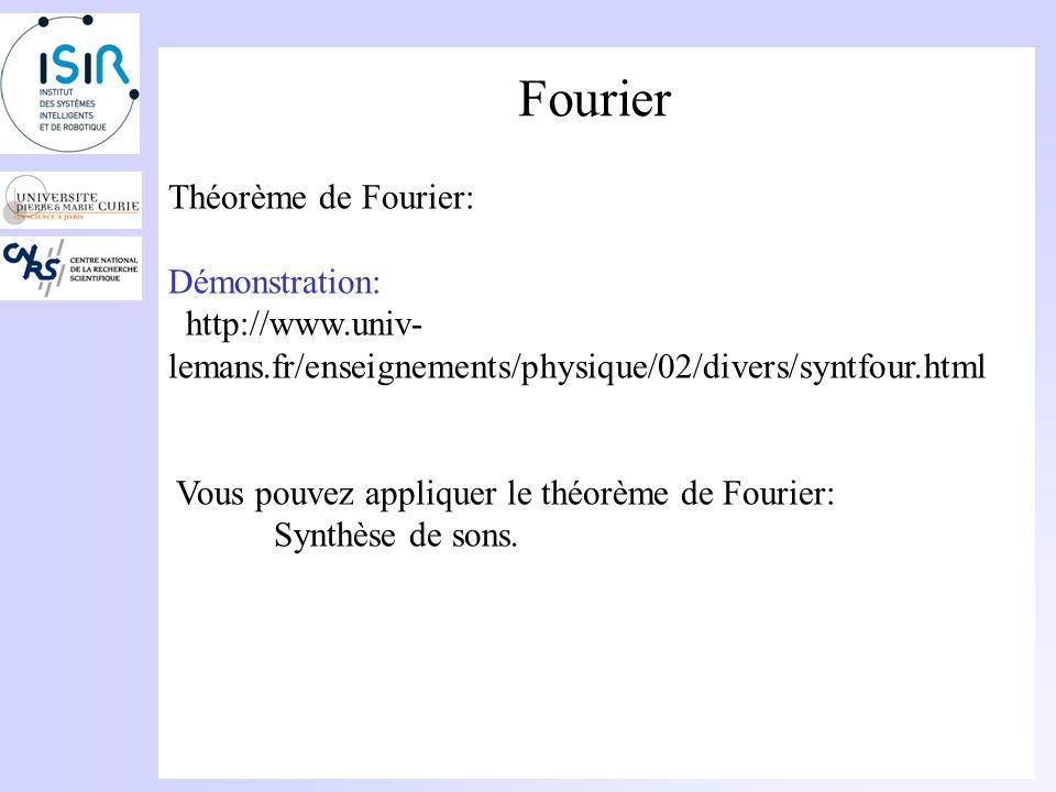 Fourier Théorème de Fourier: Démonstration: