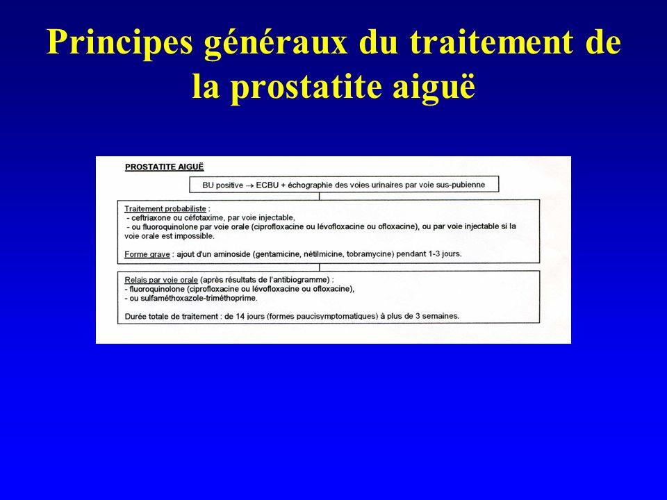 Principes généraux du traitement de la prostatite aiguë