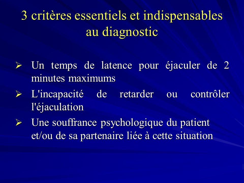 3 critères essentiels et indispensables au diagnostic