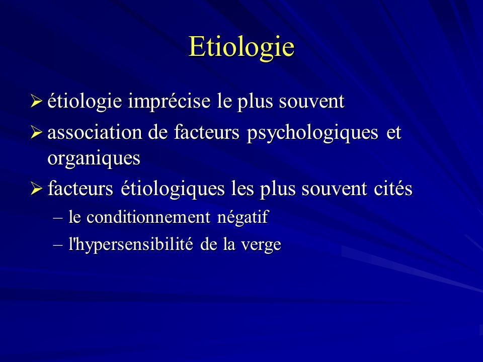 Etiologie étiologie imprécise le plus souvent