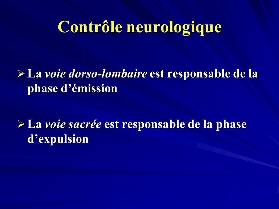 Contrôle neurologique