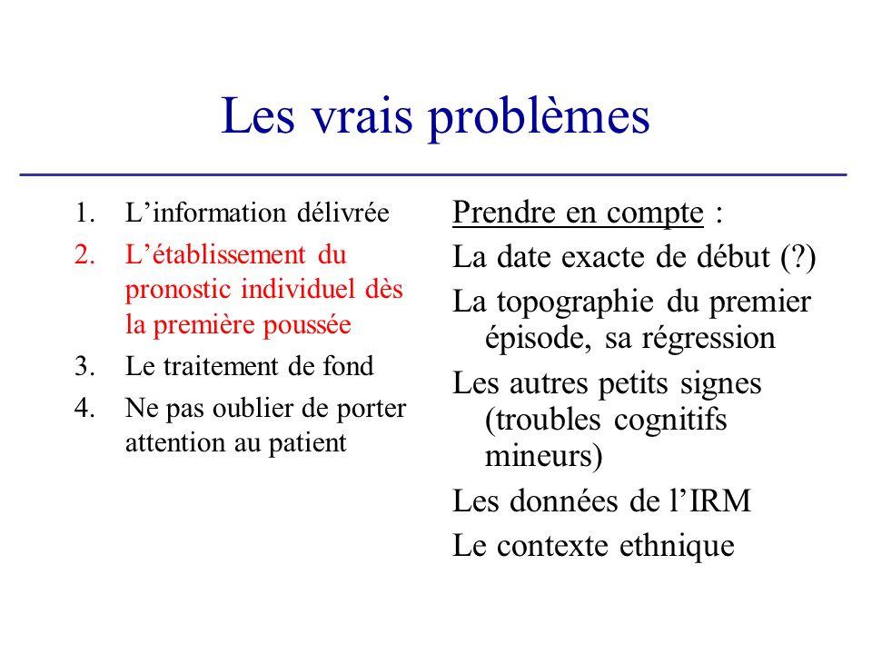 Les vrais problèmes Prendre en compte : La date exacte de début ( )