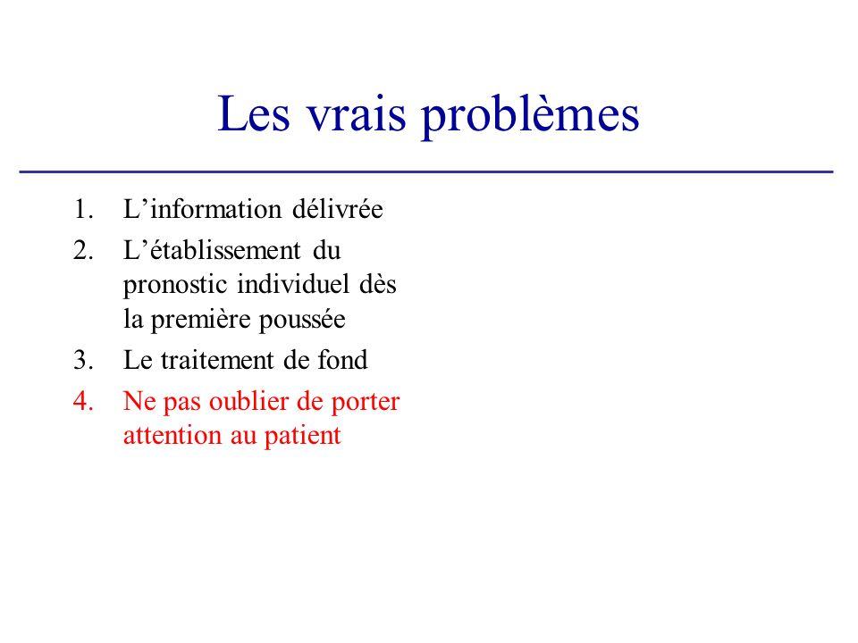 Les vrais problèmes L'information délivrée