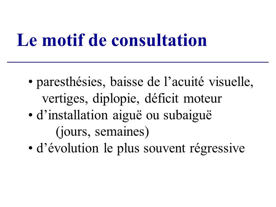 Le motif de consultation