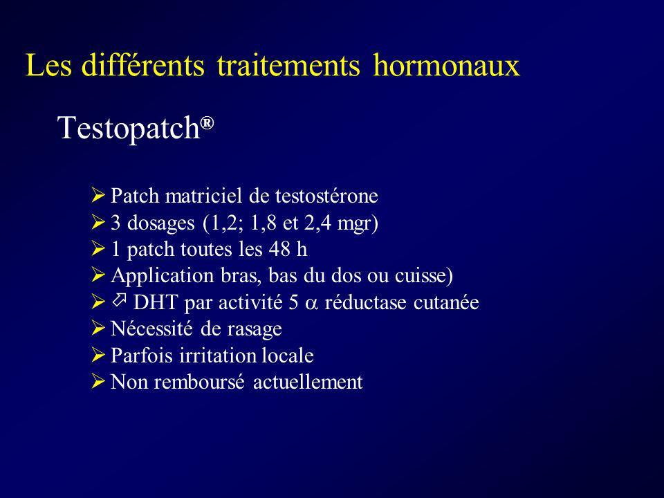 Les différents traitements hormonaux