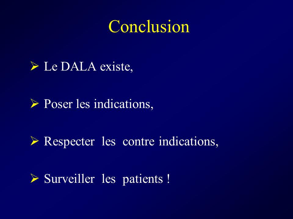 Conclusion Le DALA existe, Poser les indications,