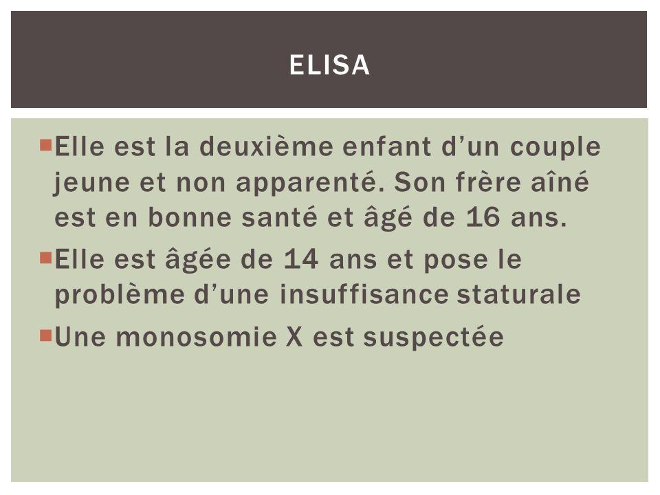Elisa Elle est la deuxième enfant d'un couple jeune et non apparenté. Son frère aîné est en bonne santé et âgé de 16 ans.