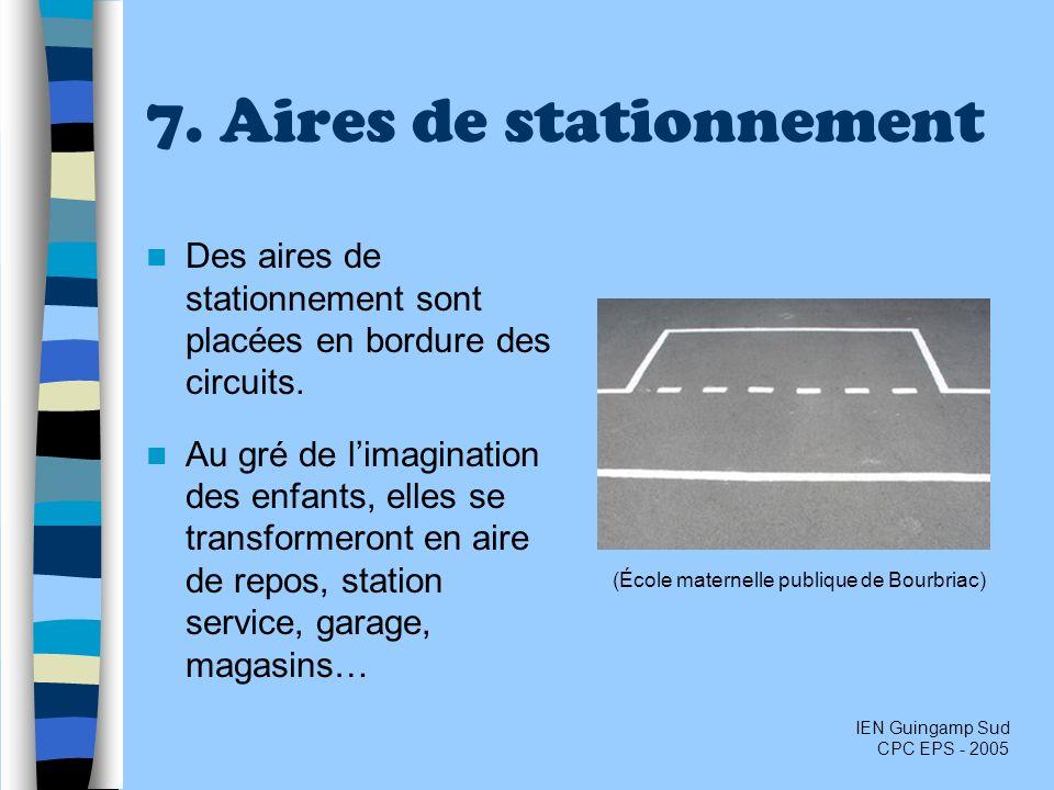 7. Aires de stationnement