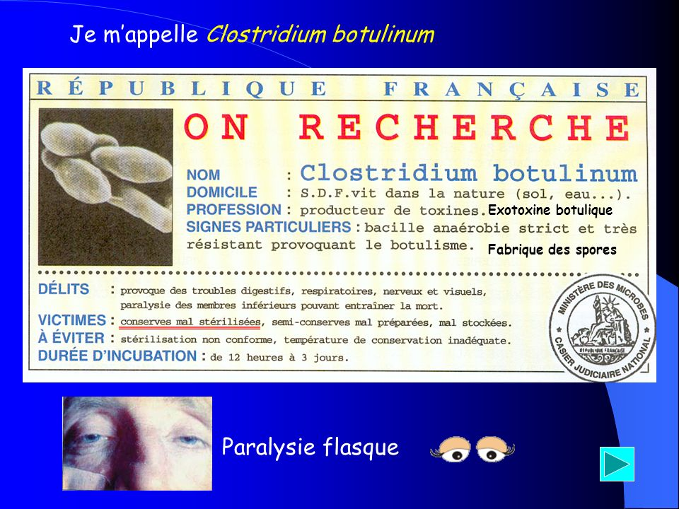 Je m'appelle Clostridium botulinum