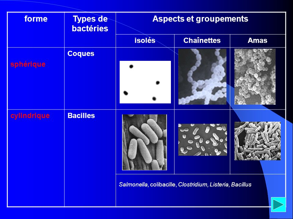 Aspects et groupements