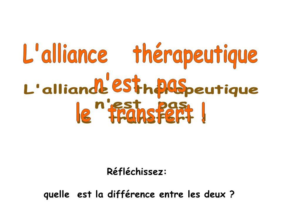 L alliance thérapeutique quelle est la différence entre les deux