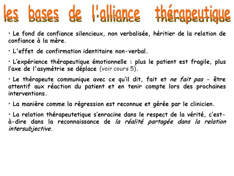les bases de l alliance thérapeutique
