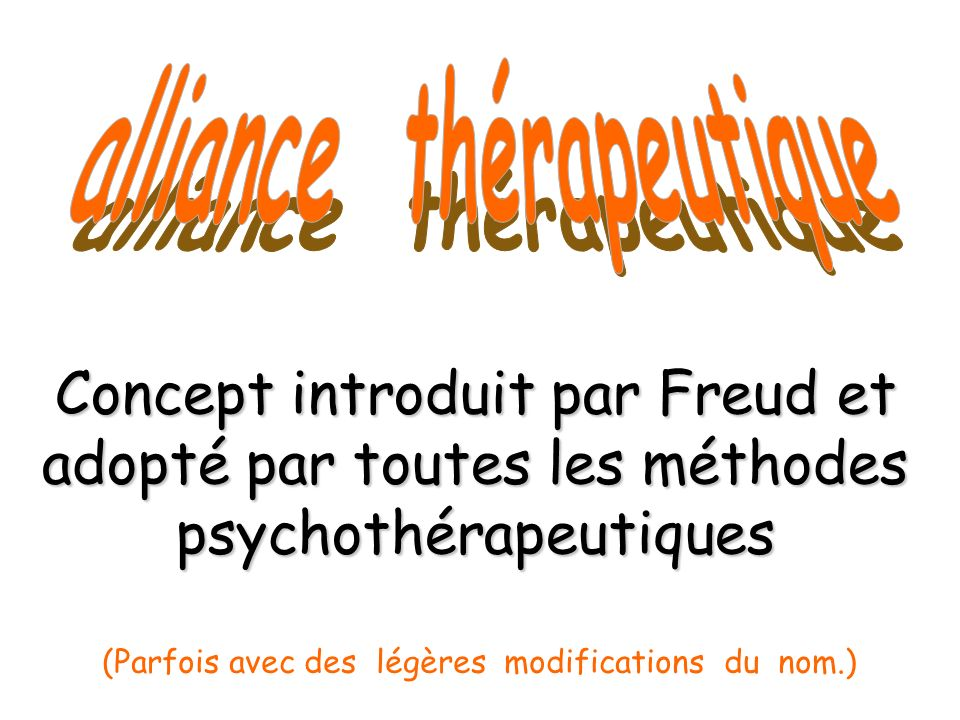 alliance thérapeutique