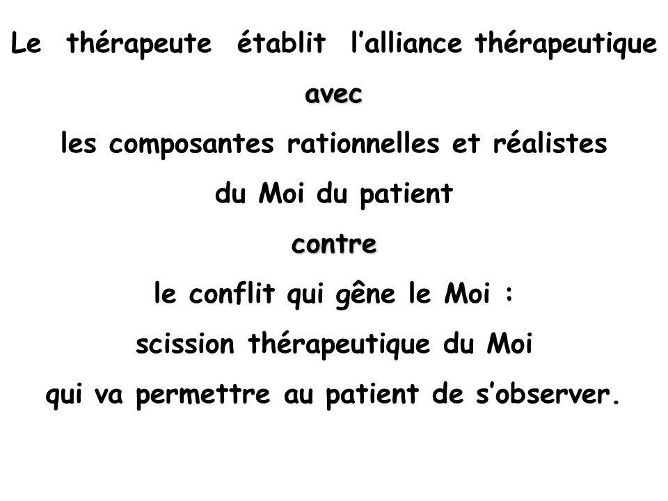 Le thérapeute établit l'alliance thérapeutique avec
