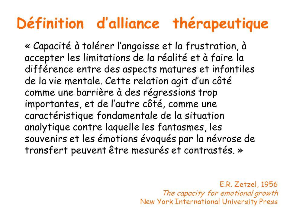 Définition d'alliance thérapeutique