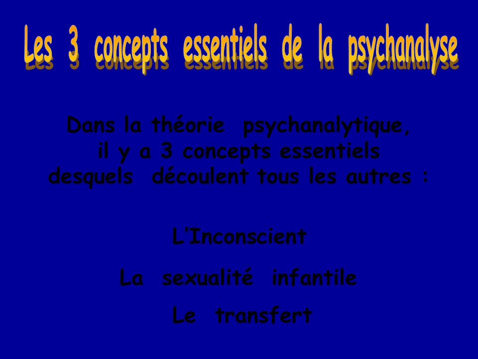 Les 3 concepts essentiels de la psychanalyse