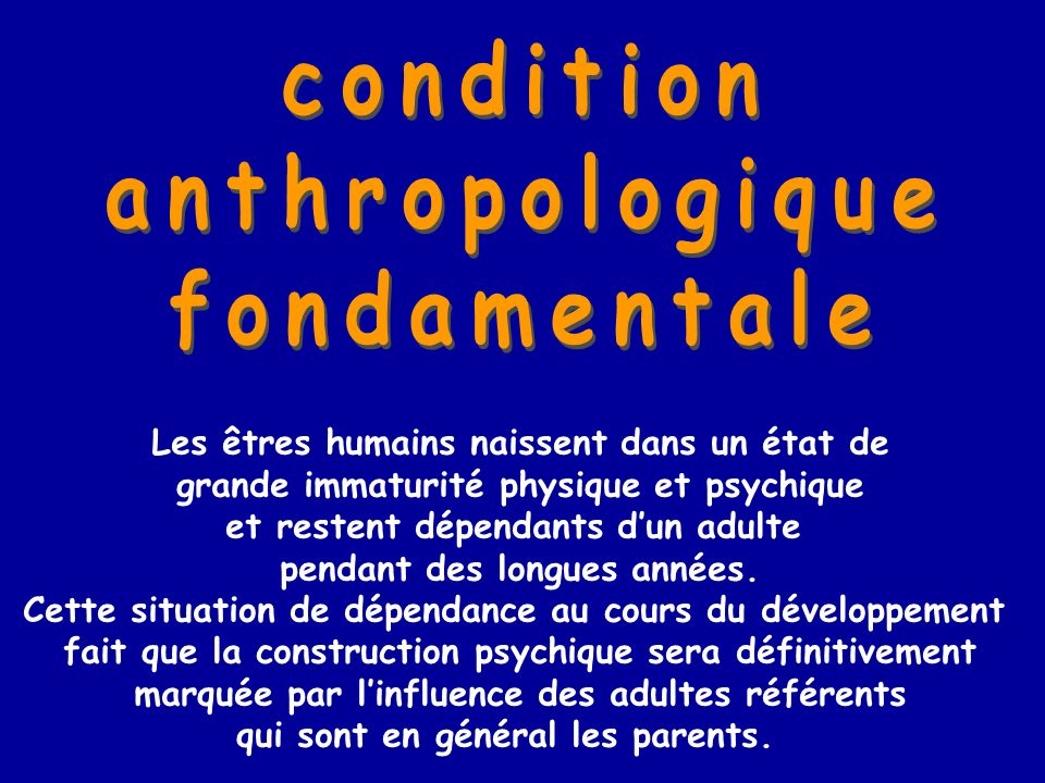 condition anthropologique fondamentale