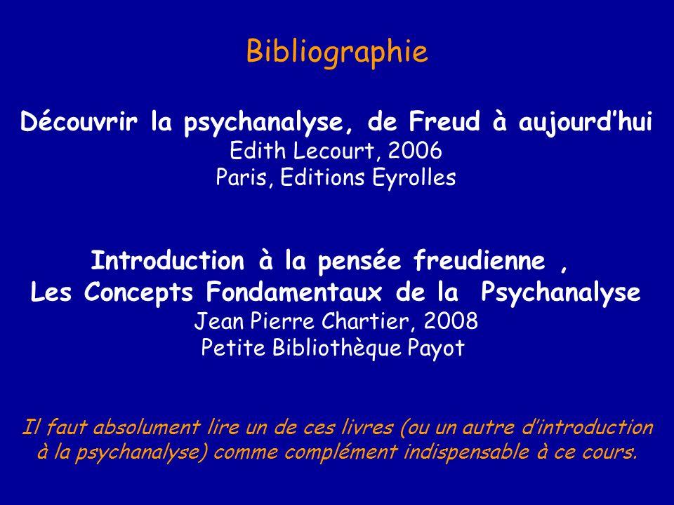 Bibliographie Découvrir la psychanalyse, de Freud à aujourd'hui